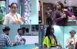 #BBNaija Day 30: Housemates Battle Fear, Superstition, Phobia with Disgusting Food (Photos)
